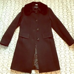 Black coat super cute and flattering
